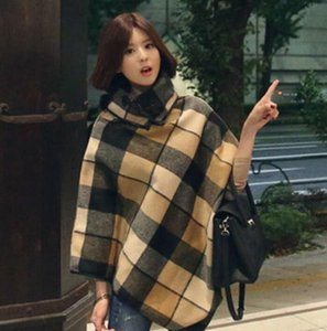New Design Plaid Stoles Top quality Women's Fashion retro Scarf Winter woolen cloak Warm Blankets Stripe Large Size blanket scarves