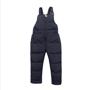 New winter children's down cotton trousers thickened children's clothing bib trousers cotton trousers boys and girls baby onesies