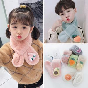 Kids Faux Fur Scarf Fluffy Furry Rabbit Scarf Cute Neck Warmer Winter Wrap Shawl for Girls Boys