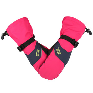 Invierno Impermeable Ski Snow Mittens Hombres Mujeres Gris Pink Smartphone Pantalla Táctil Adulto Negro Negro Guantes Amantes Diseño Q1127