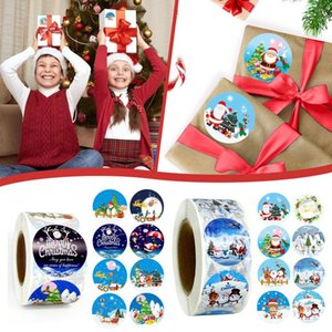 Christmas decoration stickers Merry christmas stickers Pack Sticker Holiday Gift Decorating Gift 1 Roll
