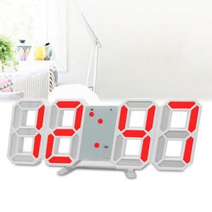 Relógios digitais LED Grande Exibição Jumbo para Home Office Mesa Relógio Snooze Eletrônico Crianças Relógio Desktop Calendário Alarme