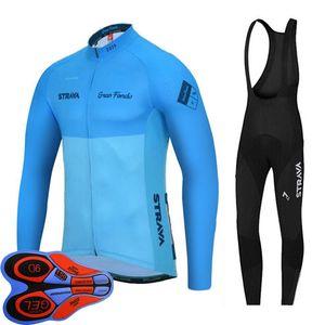 2019 STRAVA Team Spring autumn long sleeve Bike sportswear Men Pro cycling jersey bicycle uniform quick dry MTB Racing Clothing Y091801