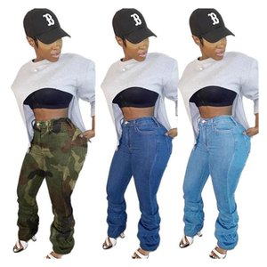 Womens Summer Casual Street High Waist Zip Up Button Pocket Pocket Pocket Up Pleated Leggero Legge Slim Fit Jeans