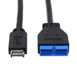 Omputer Office Computer Computer Cables Connectors Прочный разъем Передняя панель Тип E - 20 ПИН-адаптер Кабель Черный Преобразовать длинные аксессуары 20C ...