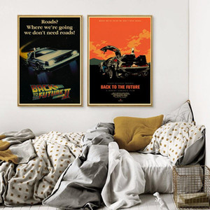 Back To The Future Movie Canvas Painting Vintage Posters And Prints Wall Art Pictures For Living Room Decoration Home Decor