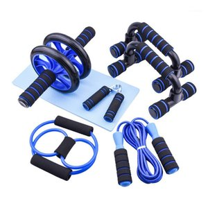 AB Wheel Roller Set With jump Rope Hand Grip Push-up Support Fitness Abdominal Muscle Wheel Fitness Workout for Home Gym1