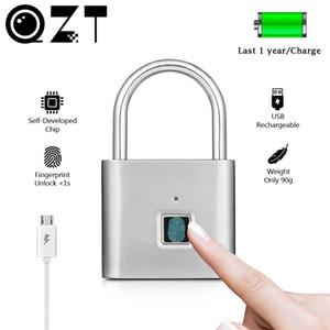 QZT الكهربائية بصمة قفل الذكية الرئيسية البيومترية الباب قفل wifi بصمة قفل الأمن الباب قفل الباب للمنزل الآمن 201013