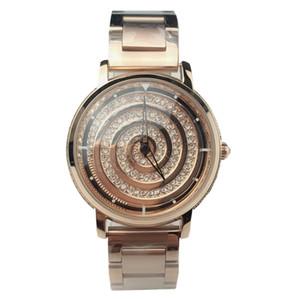 2020 Korea Hot Style Luxury Diamond Watch For Women Delicate Fashion Rose Gold Steel Strap Wrist Quartz Watch For Gift