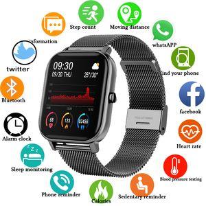 2020 новый P8 цветной экран смарт-часы женщины мужчины полный прикосновение фитнес трекер артериальный давление умные часы женщины SmartWatch для Xiaomi