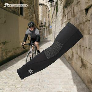 Santic Cycling Arm Warmers Winter Thermal Arm Sleeve Outdoor Sport Basketball Baseball Keep Warm Arm Sleeves Asia S-XL W7C09072 Q1117