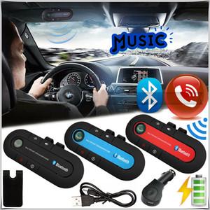 Yeni Bluetooth Handsfree Araç Kiti Kablosuz Bluetooth Hoparlör Telefon MP3 Müzik Çalar Sun Visor Klip Hoparlör Araç Şarj Cihazı