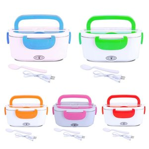12 110 220V Portable Electric Heated Lunch Box Bento Boxes Car Rice Container Warmer Car Home Rice Box Cooker Dinne