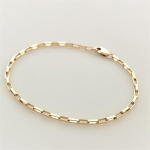 14K Filled Chain Handmade Jewelry Boho Charms Bracelets Vintage Anklets for Women Bridesmaid Gift Gold Bracelet Q1121