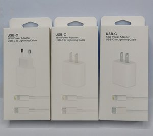 18W USB-C Charger Adapter For iPhone 12 Pro Max 12 mini 11 XS Fast Charging EU Plug Quick charger adapter PD Type C cable Travel Charger set