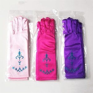 5 Girls Dito dito Lunga Gloves Snow Queen Kids Dress Up Party Supplies Bambini Principessa Cosplay Mittens Baby Girl Co