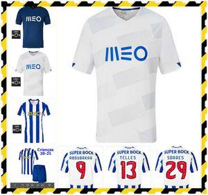 20 21 Alex Telles Otavio Felipe Augusto Home Away Jerseys 2020 2021 Telles Brahimi Shoya Danilo Terceiro Futebol Camisa Men + Kids Kit