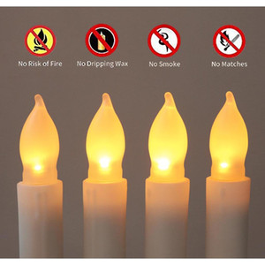 12 Pcs set 2.1*16.5cm Battery Operated Flameless Led Taper Candles Lights For Wedding Birthday Churches Christmas bbyNMR bdesports
