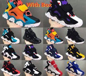 Expédition rapide 2020 Chaussures de basketball de haute qualité Hommes Barratage Mid QS Noir HyperGrape Femmes Formateurs Sports Sneakers Sports Grossistes