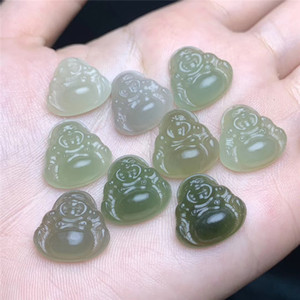 lovely small size Natural Hetian Jade buddha pendant jade crystal necklace special crystal healing crystal pendant