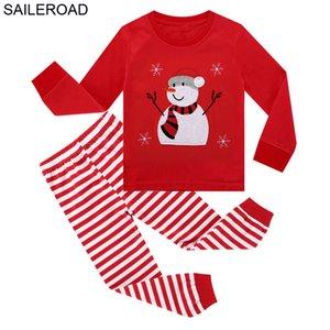 Saileroad Baby Pajamas Snowman Boy Boy Child Winter Pajamas для мальчиков Ребенок Pajamas Наборы