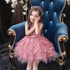 2020 Summer Tutu Dress For Girls Dresses Kids Clothes Wedding Events Flower Girl Dress Birthday Party Costumes Children Clothing