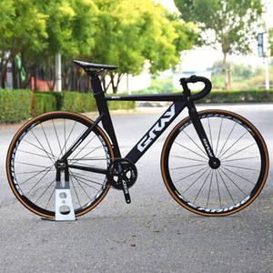Fixie Beach Bicycle con forcella integrale in lega di alluminio, bordo ruota da 25 mm, bici da corsa singola, pignone fisso 700C, colore grigio