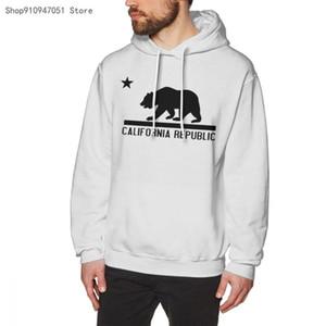 République de la Californie Casual Hooded Complet Imprimer régulier Polyester standard Cn (origine)