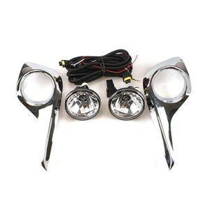 Assemblage de la lampe à brouillard de voiture avec étui de couverture pour Toyota Highlander Kluger 2011-2014, 4300K Blub halogène + couverture + harnais + interrupteur