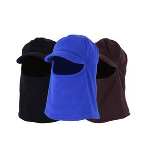 Outdoor Windproof Mask Riding Cap For Men Women Autumn Winter Hiking Fishing Cycling Ski Fleece Hat Thicken Warm Head Cover Hats