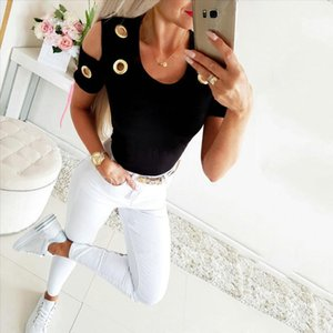Spring Elegant Thin Knit Shirt Metal Ring Decoration Hollowed Sexy Club Bodycon Top Femme Summer Casual Blue White Women Blouse