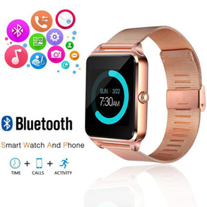 Z60 Stainless Steel Bluetooth Smart Watch Phone Support SIM TF Card Camera Fitness Tracker Smartwatch for IOS Android