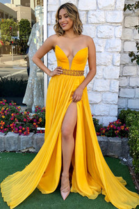 Sexy Deep V-neck Backless Prom Gown Side Split Long Evening Dress for Special Occasions Custom Made