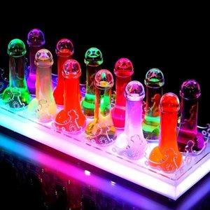Прозрачный пенис винный бар коктейль Открытый стеклянные чашки инструмент партии пить коктейль вместилище очки упражнения AAA672 Taomi