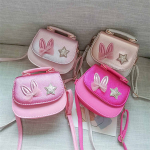 Girl Coin Purse Handbag Children Wallet Small Coin Box Bag Cute Rabbit ear bow Kid Money Bag Shoulder Bag Change Purse
