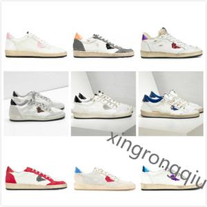 İtalya Deluxe Marka Topu Yıldız Sneakers Altın Klasik Beyaz Yıldız Do-Eski Kirli Ayakkabı Kaz Tasarımcısı Adam Kadınlar Rahat Ayakkabılar Moda En İyi Kalite