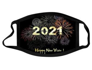 New Year Gesichtsmaske Designer Gesichtsmaske Großhandel Baumwollwaschbar Schwarz Mund Masken Erwachsene Happy New Year Staubdichte Haze Facemask Jungen Hwe3169