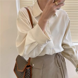 New 2020 Spring Candy Color Casual Women Blouses Lapel Long Sleeve Single breasted Shirts Female Loose office Lady Blusas Tops