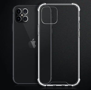 Phone Case Clear Bumper Transparent Shockproof Crystal Hard Back TPU Acrylic Protective Cover for iPhone 12 11 Pro Max X XS Samsung S20 S10