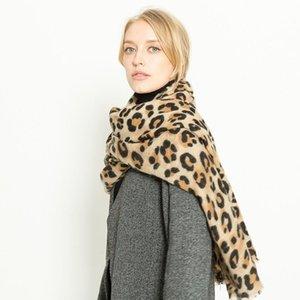 스카프 유럽과 미국 가을 겨울 표범 인쇄 모방 캐시미어 따뜻한 짙어지면서 숙녀 스카프 목도리 듀얼 사용