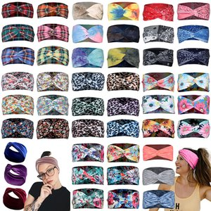 Women Designer Headband Outdoor Sports Headscarf Ladies Hair Accessories Leopard Print Cashew Flower Tie Dye Printing XD24369