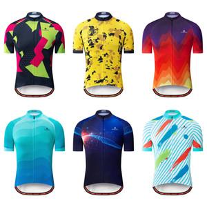 Yeni 2021 Yaz erkek Bisiklet Formaları Kısa Kollu Bisiklet Gömlek MTB Bisiklet Jeresy Bisiklet Giyim Giymek Ropa Maillot Ciclismo