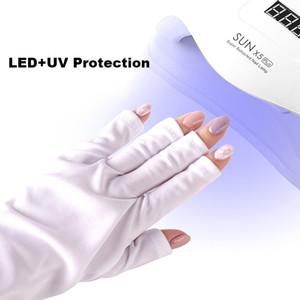 Caliente 1 par de protección UV Guante de uñas Art Gel Anti UV Glove UV Lámpara Lámpara Lámpara de uñas Secador de uñas PROTECCIÓN DE RADIACION LUZ HERRAMIENTA DE ARTE NUEVO