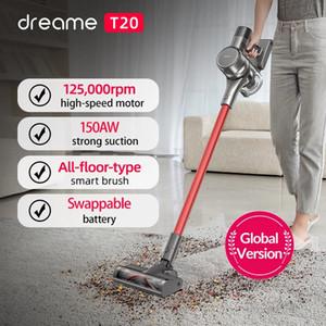 Dreame t20 يده مكنسة كهربائية لاسلكية ذكي كلها فرشاة سطحي 25kpa الكل في واحد جامع الغبار الكلمة السجاد الشافطة