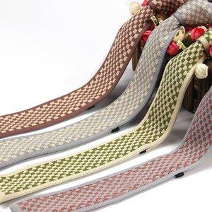 2020 6 cm Slim Knitted Tie For Men Personalized Plaid Neck Ties Unique Men Accessories Cravatte Per Gli Uomini