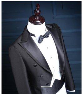 2020 Custom-tailor Slim Fit Shiny Silver 1 Buttons Groom Tuxedos Groomsman Men Wedding Suits Bridegroom Jacket+Pants+Vest