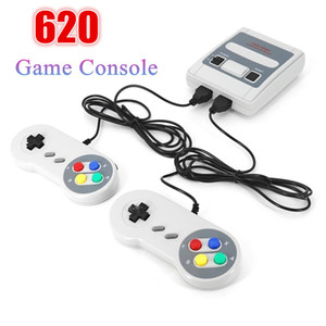 SFC Retro 620 Games Console Mini Home Family TV Game Player Handheld AV Out Double Players Childhood Game Console