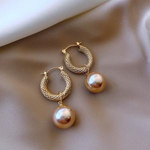 Donne placcato oro orecchini orecchini gioielli moda femmina retrò metallo pendente anello orecchio anello nuovo modello 2 8xy J2
