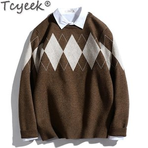 Tcyeek 2020 Men's Sweater Korean Style Pullover Long Sleeve Knitted Sweaters for Men Autumn Winter Clothes Jersey Hombre LW4454