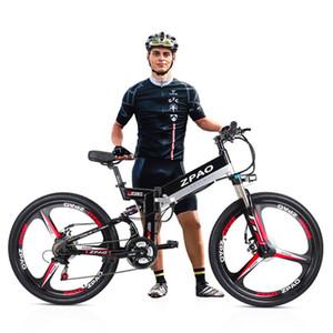ZPAO KB26 alta qualità pieghevole bicicletta elettrica, il 26 pollici 350W Mountain bike, 48V 10.4Ah batteria al litio, 5 Grade Pedal Assist